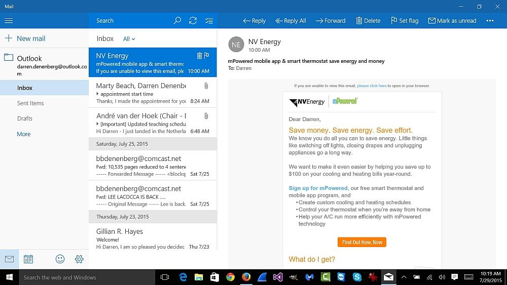 Windows 10 mail client
