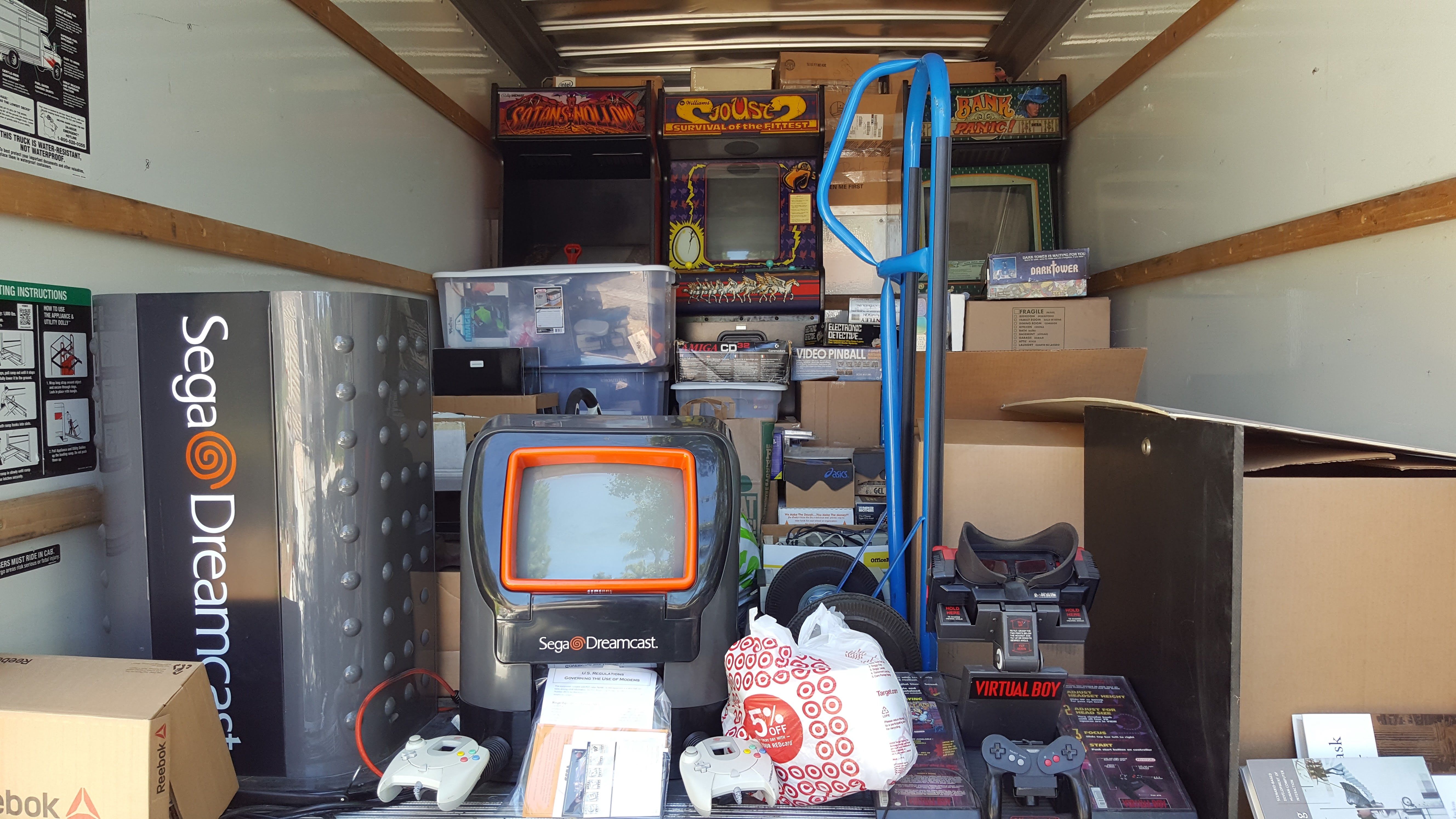 The truck before unloading