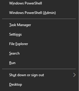 Windows 10 Power Shell entries
