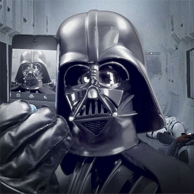 It's not Twitter, but Darth Vader actually posted this on Instagram. Seriously.
