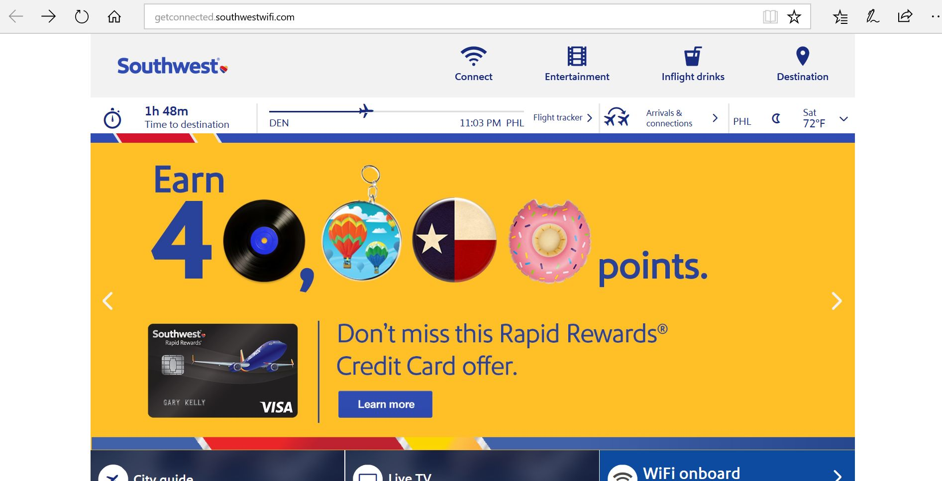 Southwest Landing Page