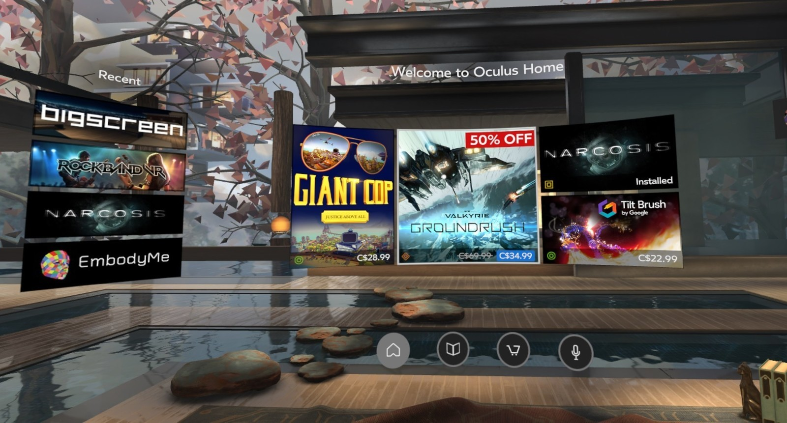 Original Oculus Home