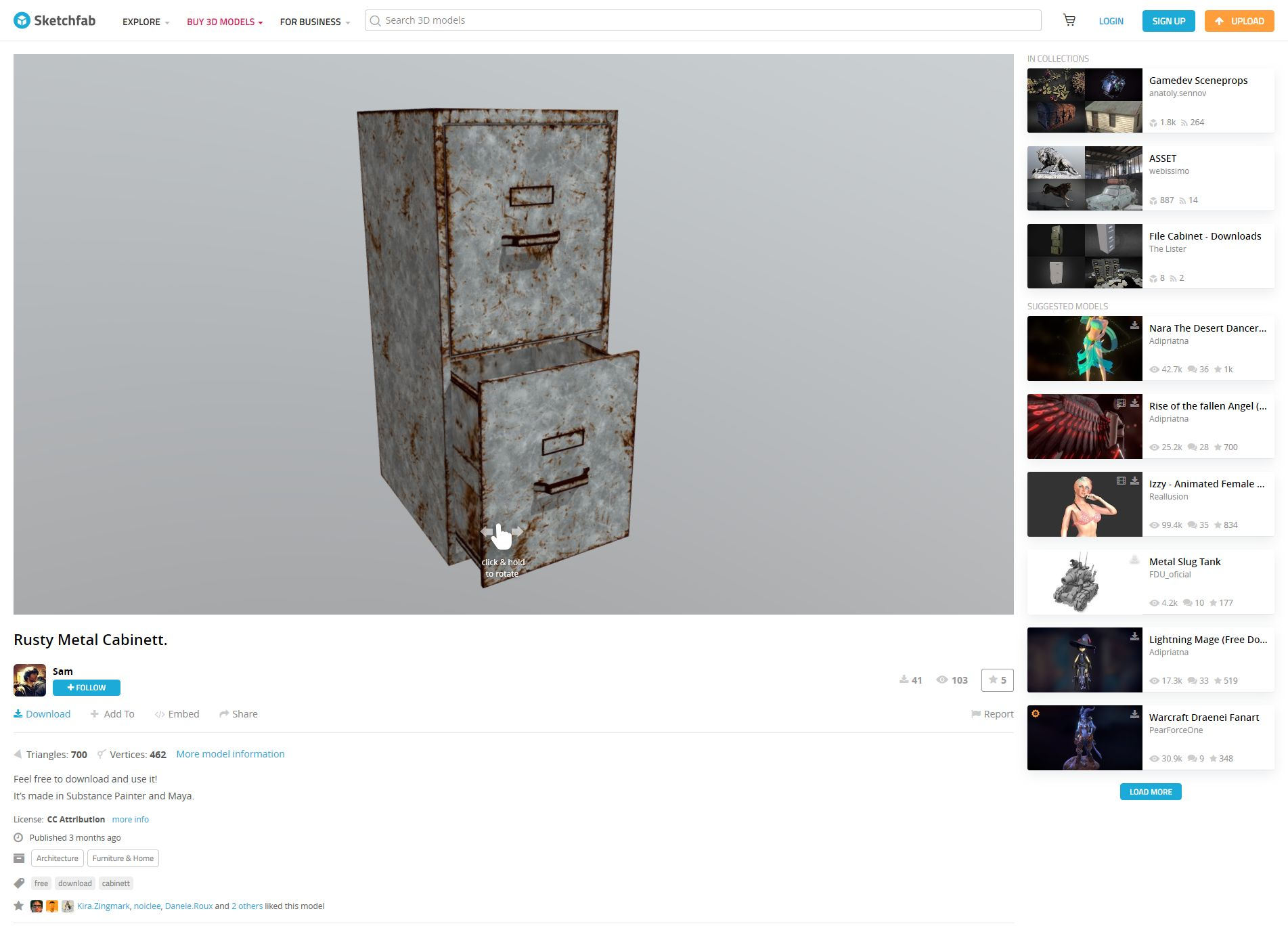 Rusty Metal Cabinet on Sketchfab